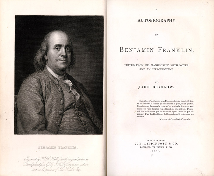 the autobiography of benjamin franklin book report