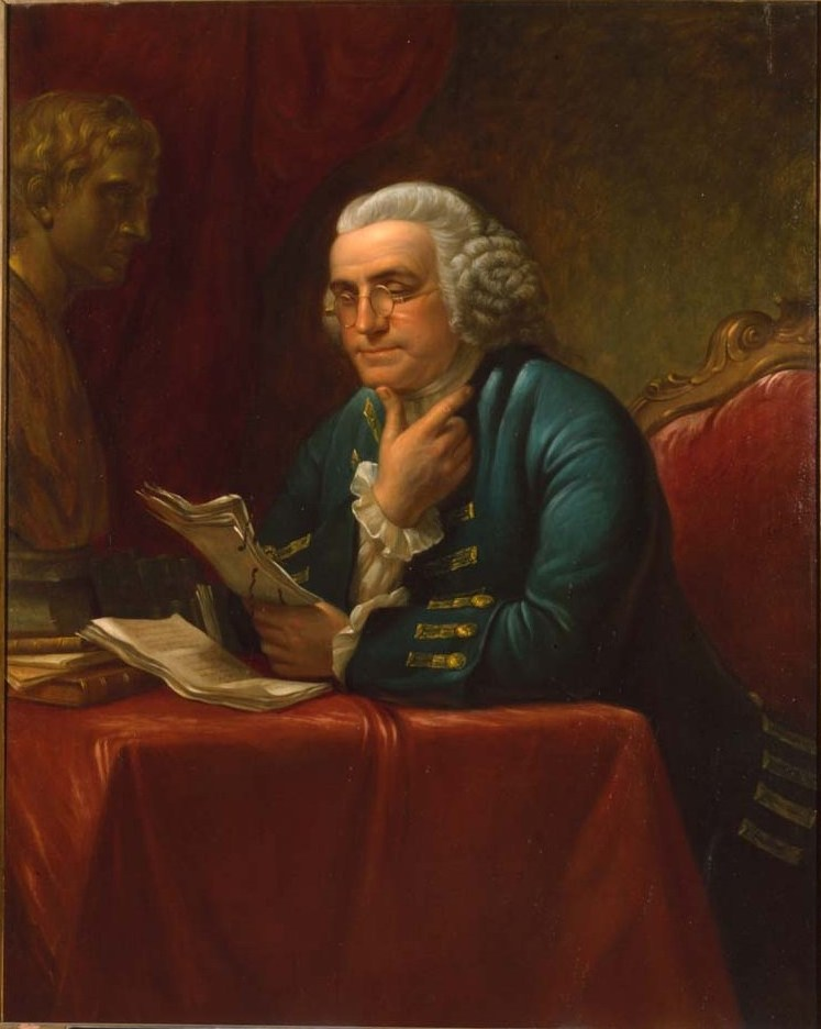 James Reid Lambdin (1807-1889). Benjamin Franklin, 1880. Oil on canvas. Library Company of Philadelphia. Purchased by the Library Company, 1880.