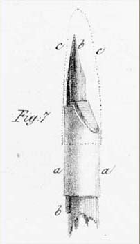 Lithographic Pen. Detail from Pl. 7 in Charles Hullmandel, The Art of Drawing on Stone (London: C. Hullmandel and R. Ackermann, 1824).