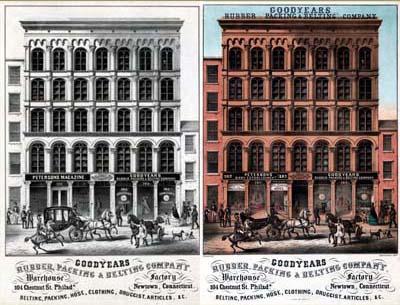 Emil Luders, Goodyears Rubber, Packing & Belting Company (Philadelphia: Lithy. of A. Kollner, ca. 1856).