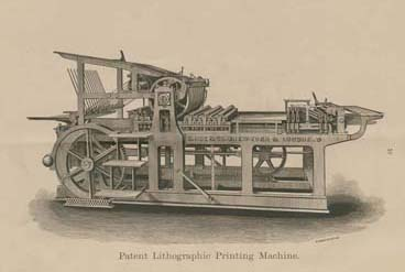 """""""Patent Lithograph Printing Machine"""" in R. Hoe & Co., Printing Press, Machine & Saw Manufacturers (New York: Hoe & Company, 1876)."""