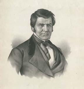 Albert Newsam (Philadelphia, ca. 1850).Crayonlithograph.