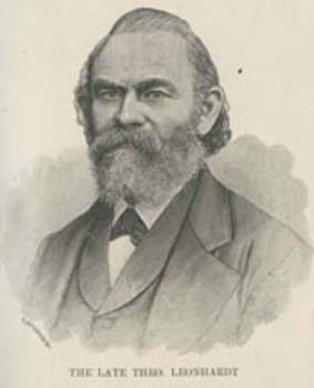 """""""The Late Theo. Leonhardt,"""" in Joseph Jackson, Some Notes Toward a History of Lithography in Philadelphia (Philadelphia, 1900).Courtesy of the Historical Society of Pennsylvania."""