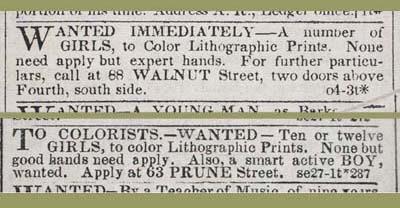 """Wanted Immediately,"" Public Ledger, October 4, 1845."