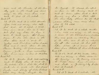George Shubert Diary, 1866. Courtesy of Temple University Libraries, Rare Books & Manuscripts Collection.