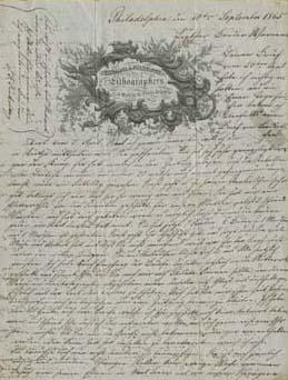 Letter from John Frederick Finkeldey to Werner Finkeldey, September 10, 1865. Courtesy of Jeremy Finkeldey.