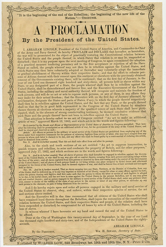 lincolns emancipation proclamation essay You just finished abraham lincoln and the struggle for union and emancipation (dbq) nice work previous essay next essay tip: use ← → keys to navigate.