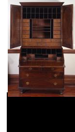 William Penn. William and Mary Secretary desk. England, ca. 1700.