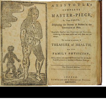 Aristotle, pseud. Aristotle's Complete master-piece.  (London [i.e., Boston], 1766.)