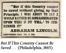 ut If This Country Cannot Be Saved . . . (Philadelphia, 1865).